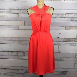 Outback Red Cross Front Red Orange Dress Small
